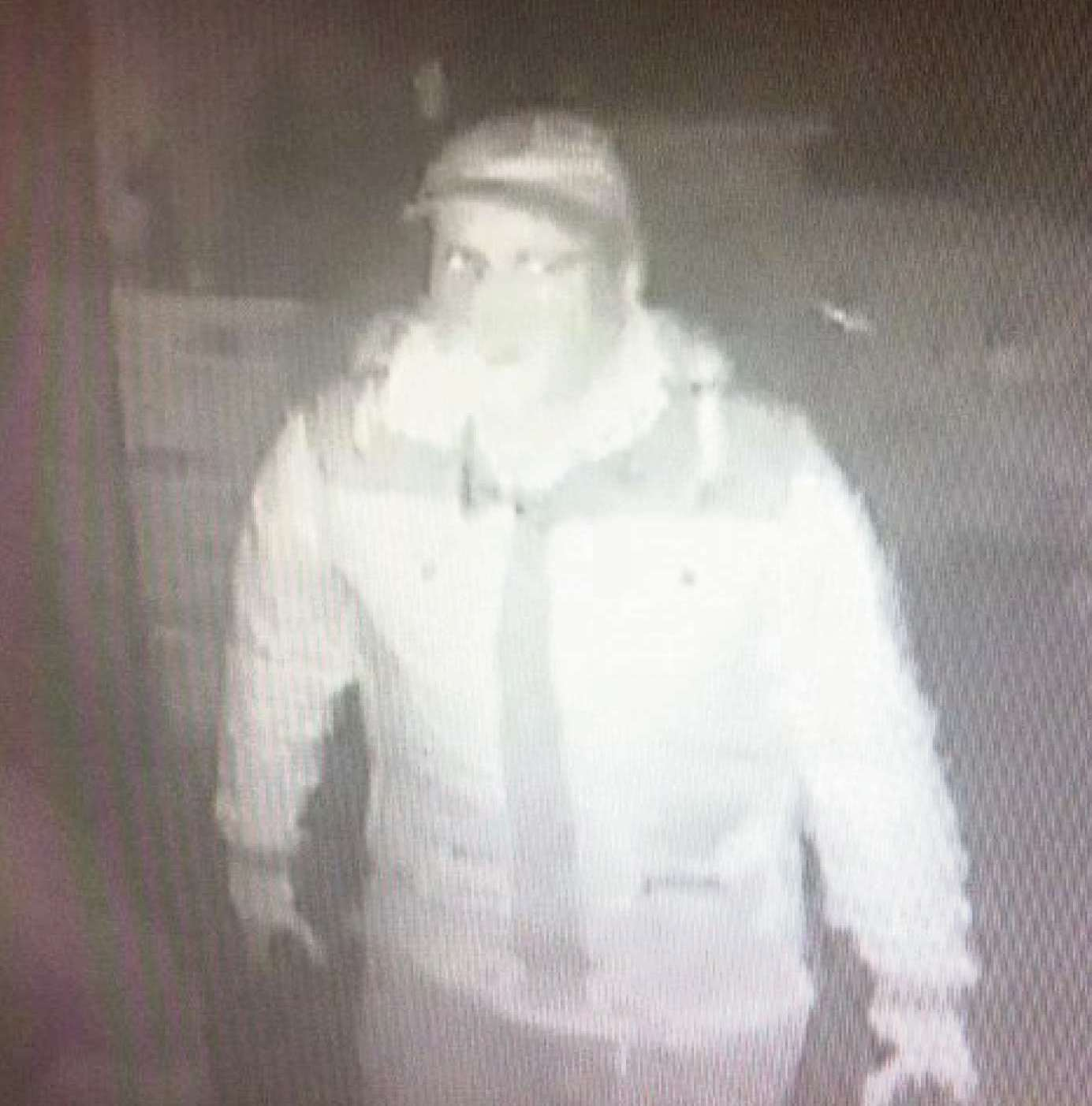 A CCTV image shows one of the men wanted in connection with the burglary at Cross Lanes Organic Farm Shop