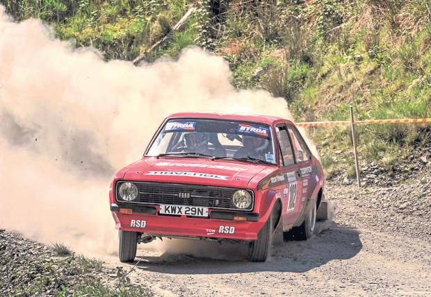 Darlington and Stockton Times: FLYING BY: Action from the Plains Rally