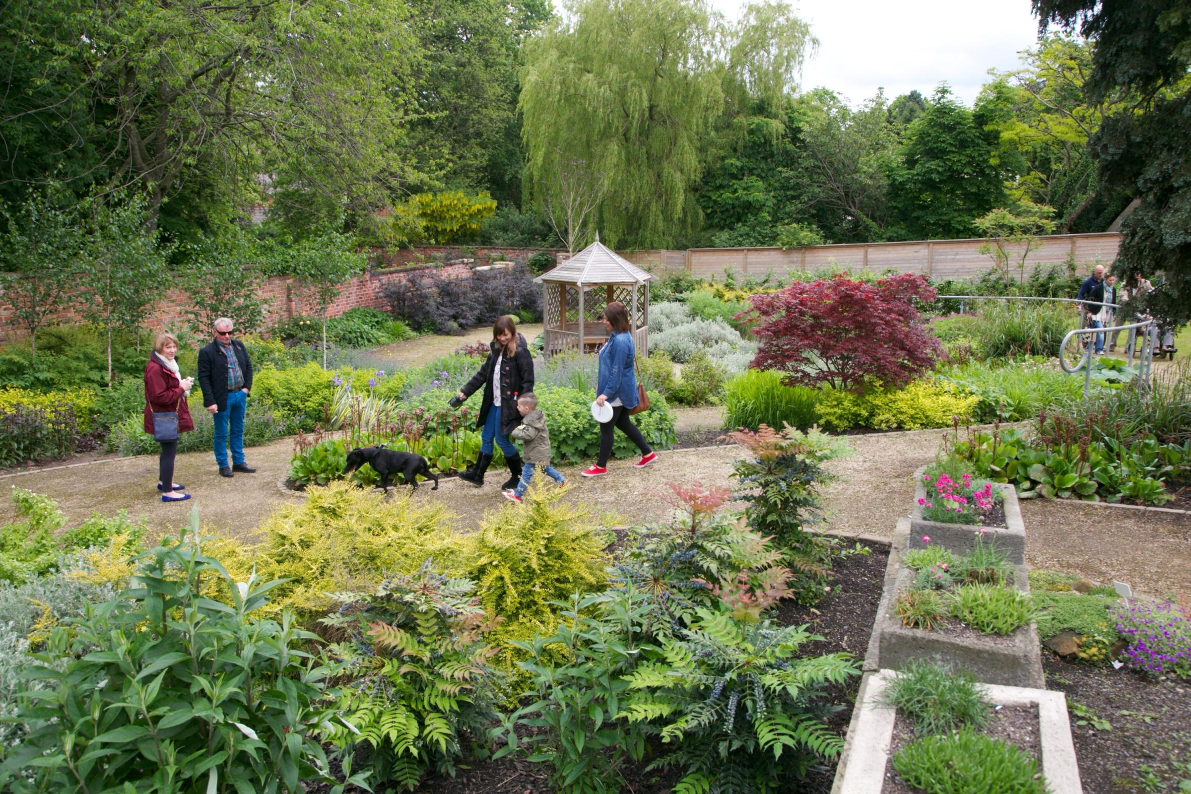 Inside Stewart Park's walled garden