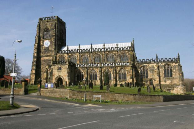 Darlington and Stockton Times: Rainbow exhibition: St Mary's church at Thirsk.