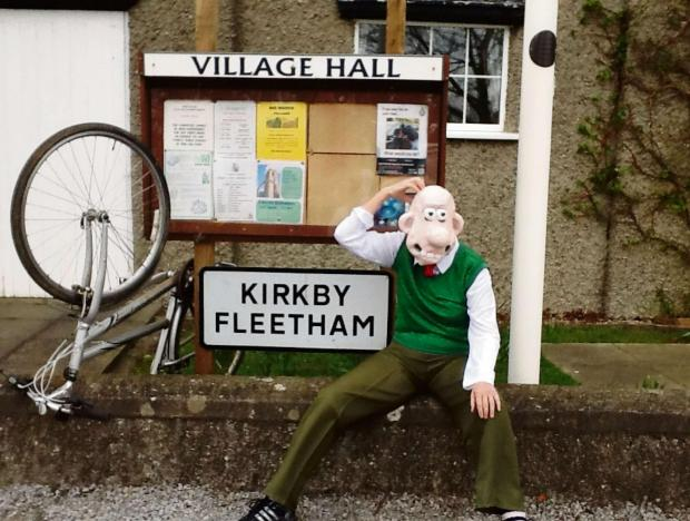 CELEBRITY GUESTS: Wallace and Gromit visit Kirkby Fleetham and Fencotes ahead of the Tour de France