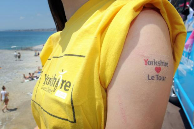 READY TO GO: A member of Grand Depart 2014 staff on the seafront in Nice last year. Library picture.