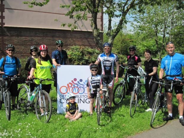 SKY RIDERS: Participants of a recent Sky Ride in Hambleton