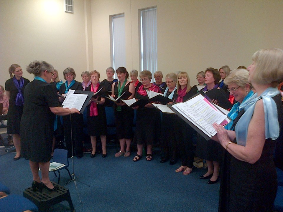 Brompton-on-Swale Ladies Choir perform to raise money for the Salvation Army's sleeping bag appeal