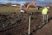 LAND ROW: Joe Gaskin Contractors start work last year on an area of land in Low Lane, Ingleby Barwick, where the new school is to be built