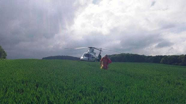 REMOTE SPOT: The Great North Air Ambulance Service were required to land in a field when a 15-year-old horse rider injured herself near Scaling Dam in North Yorkshire