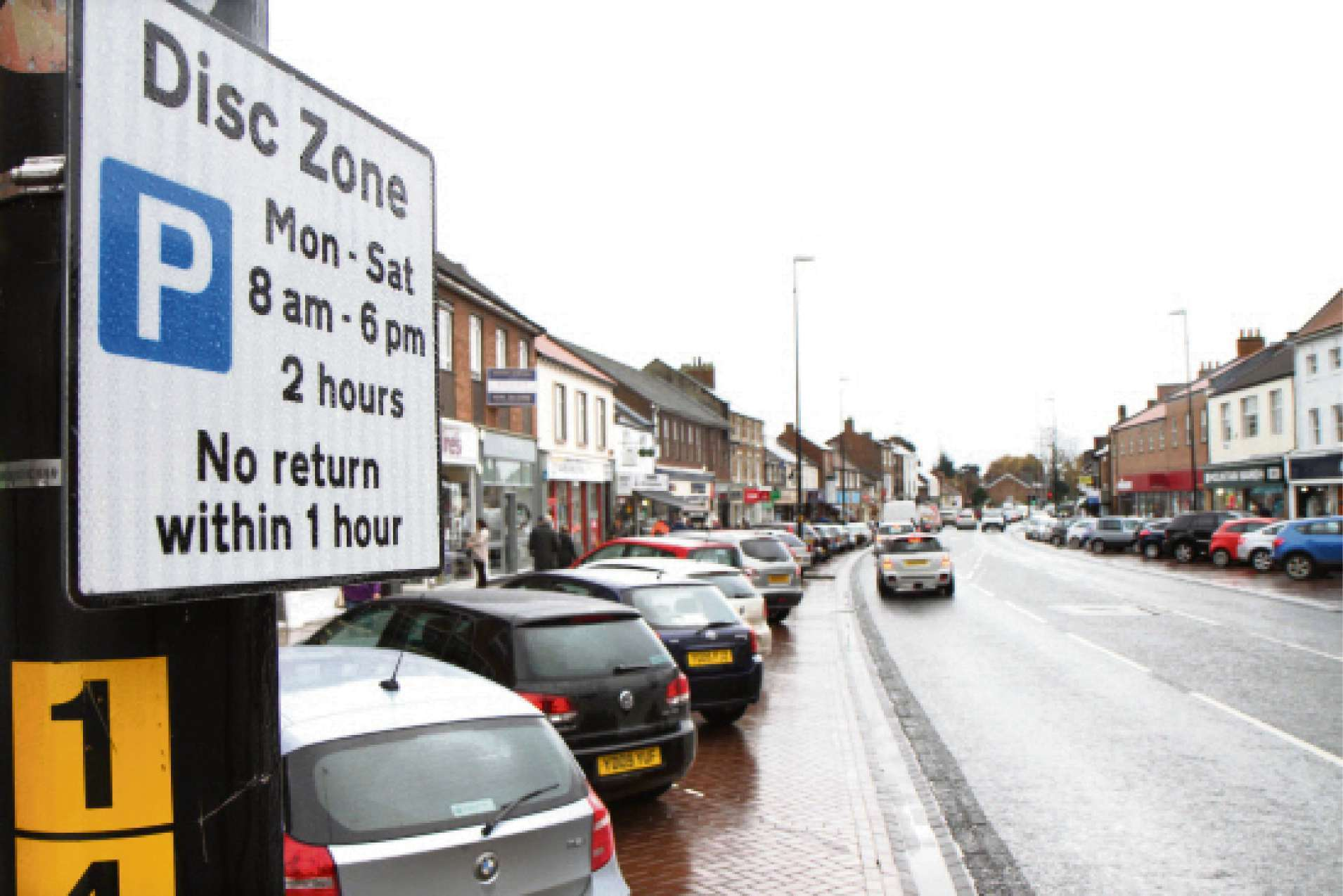 Parking row: Northallerton High Street, where current disc zone parking is being  replaced with charges