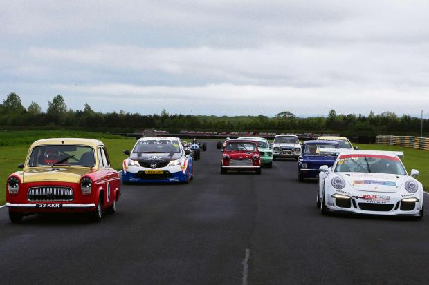 SHOWCASE: Cars line up for the media day of the Croft 50th anniversary event