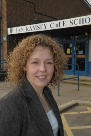 STEPPING DOWN: Janet Wilson, who has left her role as headteacher of Ian Ramsey CE School, in Stockton