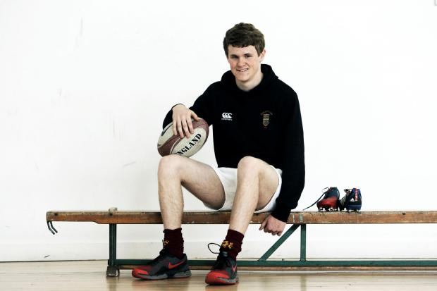Darlington and Stockton Times: SPORTING ACHIEVEMENT: 15-year-James Souter who is celebrating a successful rugby season      PICTURE: Stuart Boulton