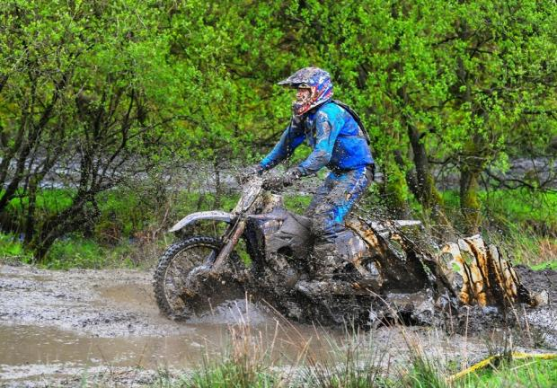 IN THE MUD: Northallerton's Robbie Wallace in action during the fifth and sixth rounds of the British Sprint Enduro Championship