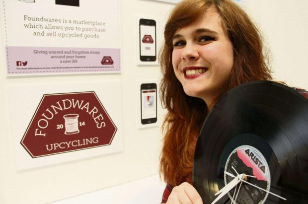 AWARD WINNER: CCAD Principal's Award winner Lauren Vitty, 18, of Darlington, with her upcycled clock