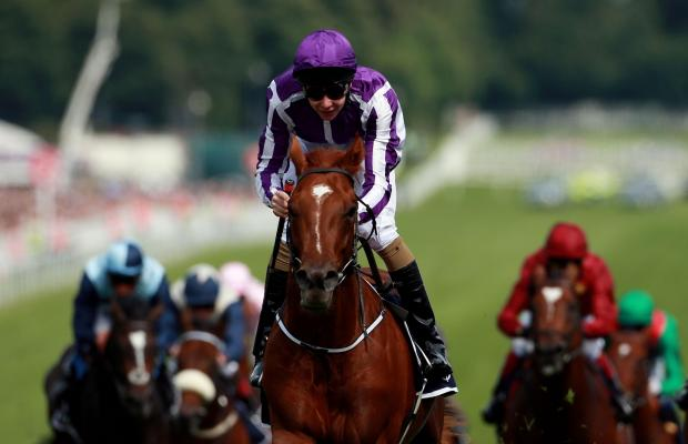 DOWN UNDER: Australia ridden by Joseph O'Brien on their way to victory in the Investec Derby at Epsom Downs last Saturday