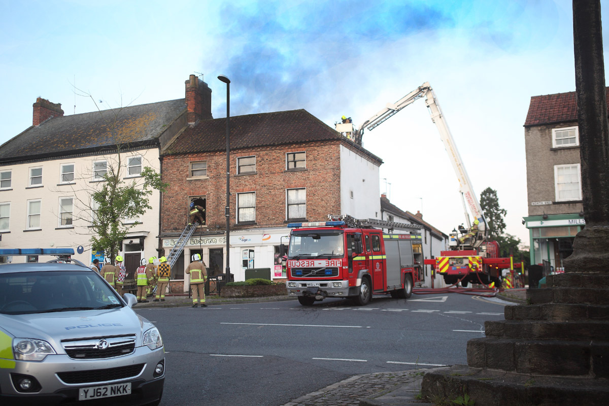 Belly Buster: Firefighters tackle the blaze