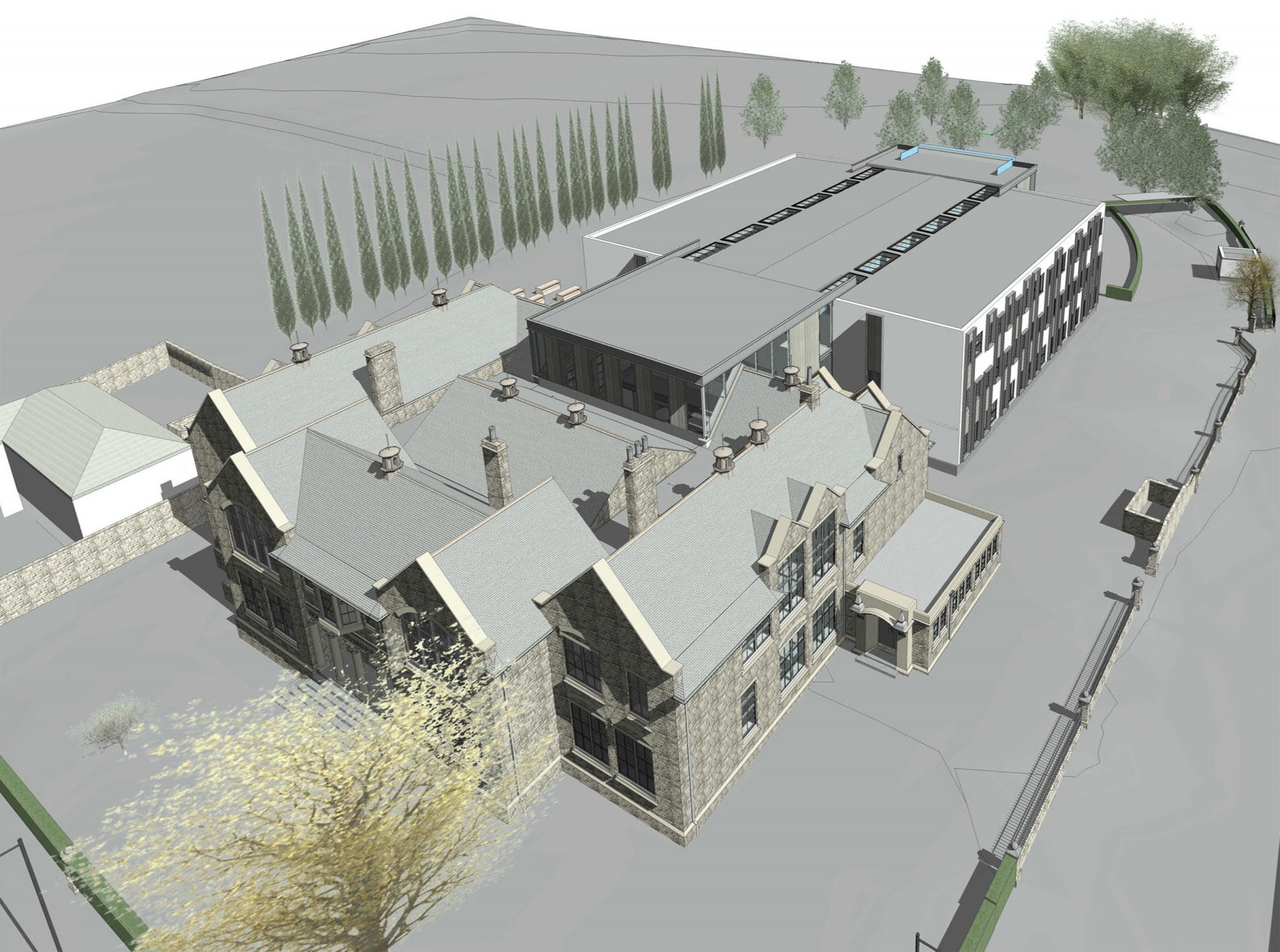 An artist's impression of the new look school submitted to Durham County Council