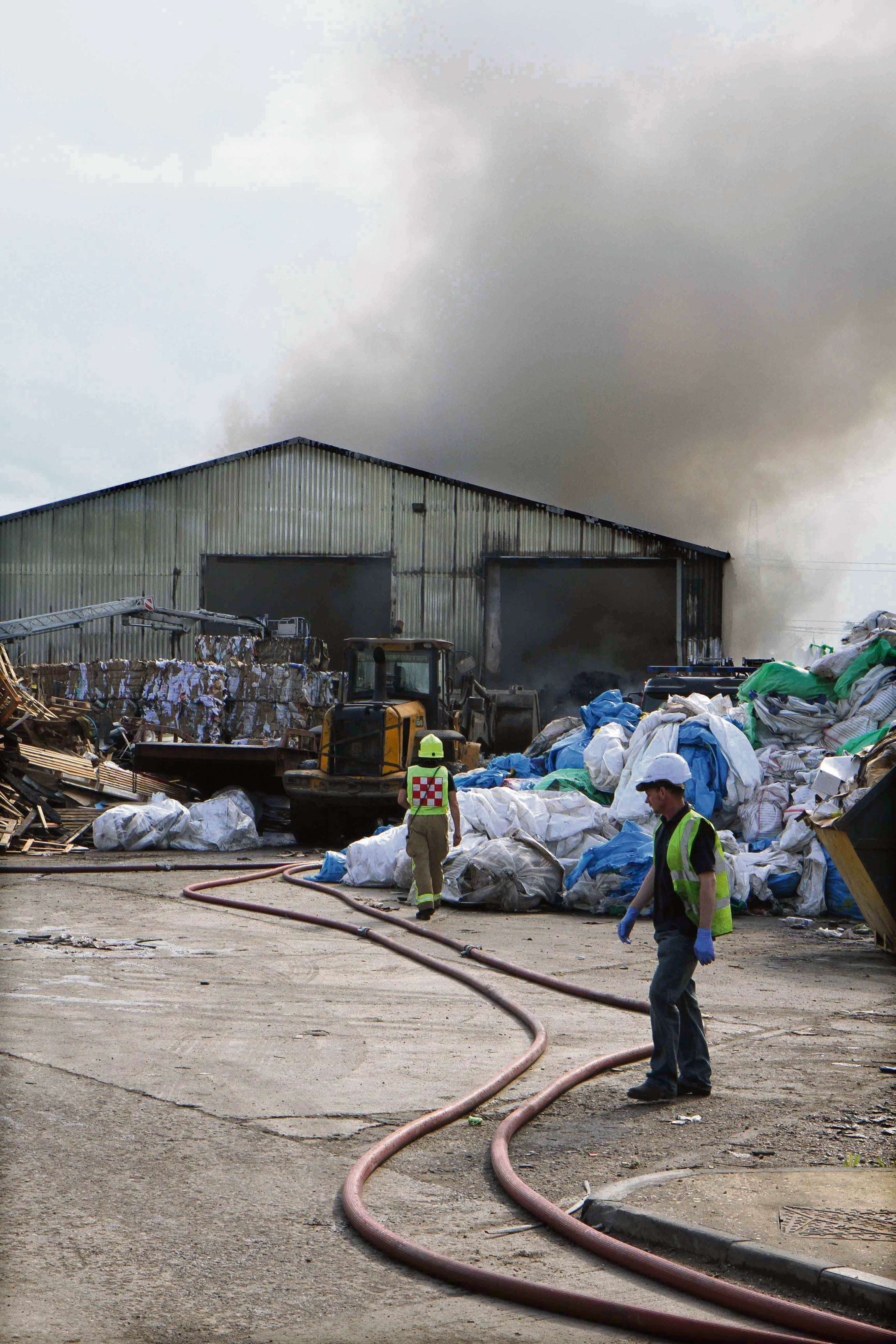 Waste firm urged to move from industrial estate after second fire