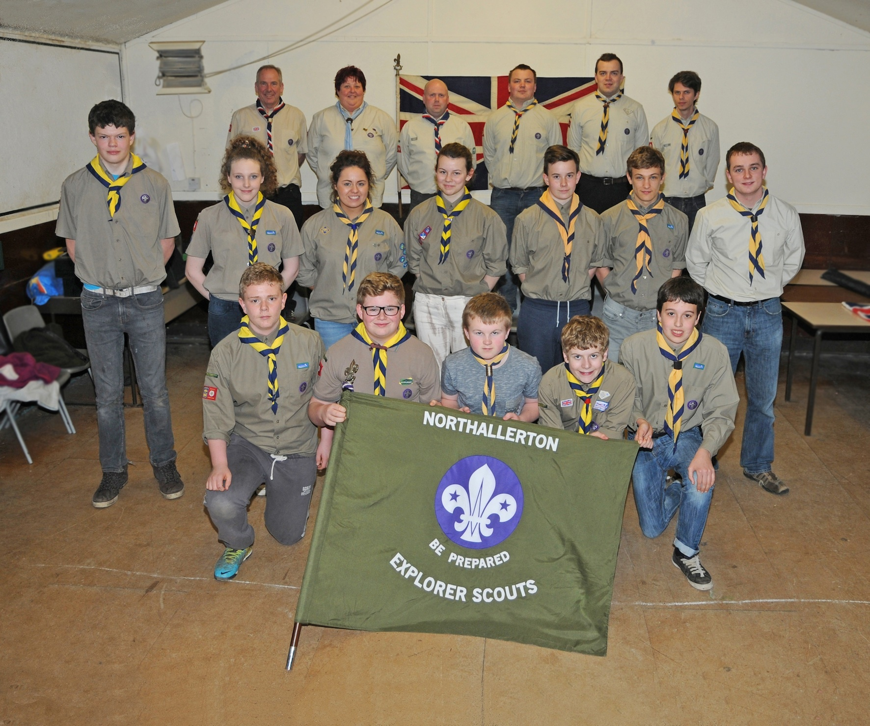 OZ-BOUND: The Northallerton scouts and leaders who will be heading to Australia next January.