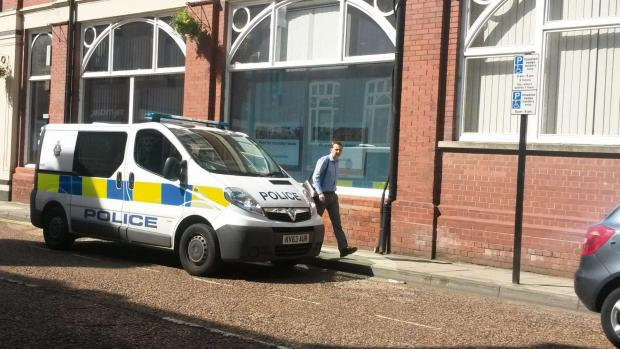 Police van parked in disabled bay