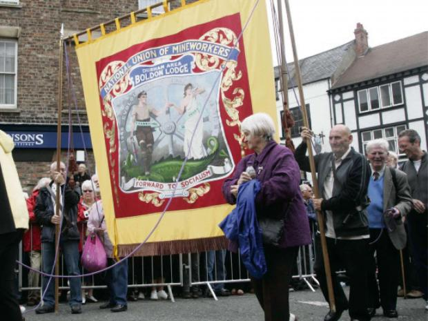 Darlington and Stockton Times: Historic North-East miners' banners were on show