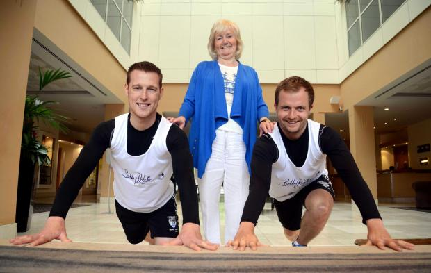 ULTRA RUN: (l-r) Jonathan Stoddart, Lady Elsie and James Redpath.
