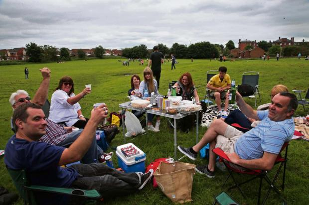 PARK LIFE: Family and friends from nearby Oakfields picnic  along with other protesters against plans to develop this green area at Bellburn Lane, Darlington.    Picture: ANDY LAMB (7162135)