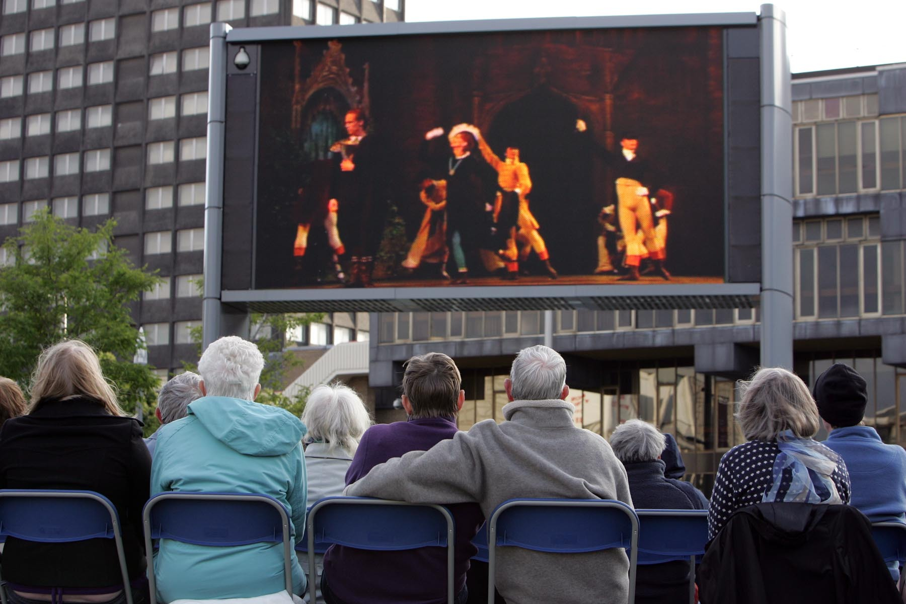 FLASH BACK: Centre Square, in Middlesbrough, played host to The Royal Ballet's Ondine when it was beamed live from the Royal Opera House, London to the big screen in the square as part of the BP Summer Big Screens Programme.
