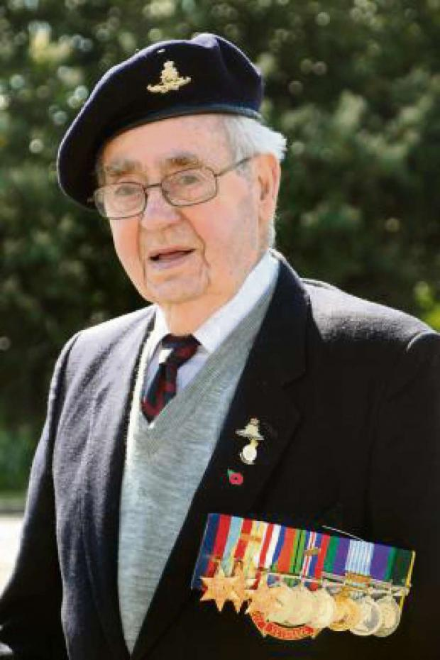 Darlington and Stockton Times: D-DAY VETERAN: Roy Rowbotham, who has died aged 93.