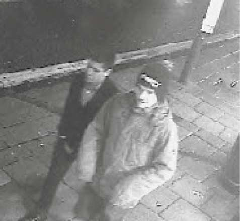 WITNESS APPEAL: Police would like these two men to contact them.