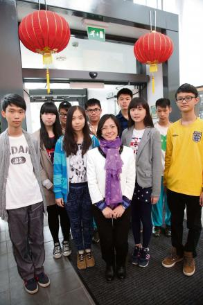 CHINESE VISITORS: Pupils from China who are visiting Hummersknott Academy   Picture: ANDY LAMB