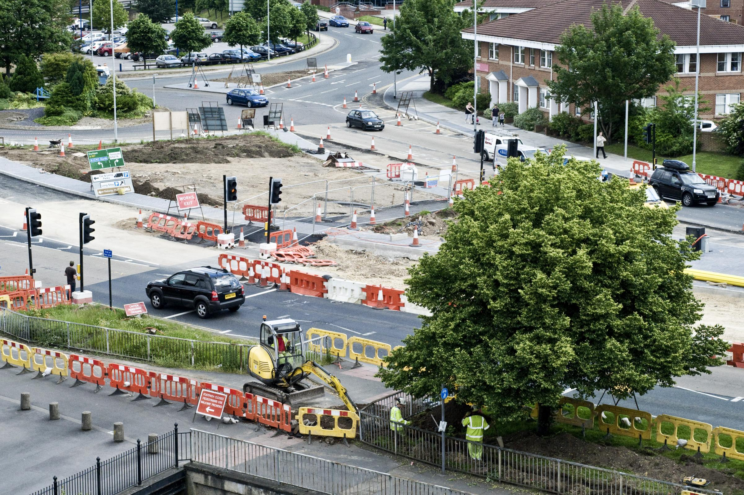 CLOSURES: Roadworks on St Cuthbert's Way, in Darlington