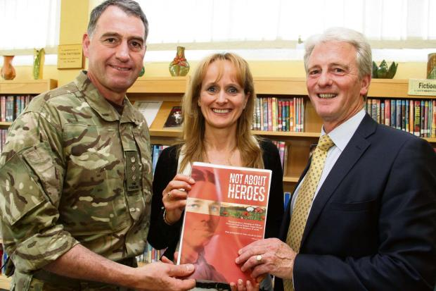 WORDS OF WAR: Catterick Garrison Commander Stephen Padgett, Feelgood Theatre Productions artistic director Caroline Clegg and Risedale Sports and Community College associate principal John Kelly