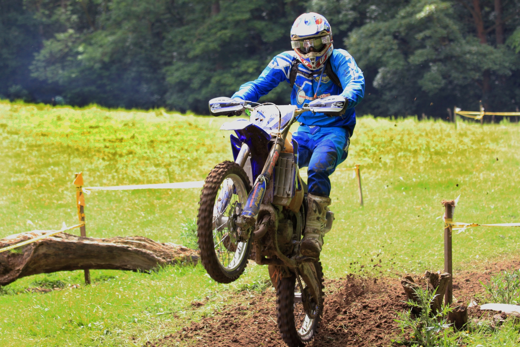 IN ACTION: Robbie Wallace on the Yamaha YZ125 during round five of the Perkins Slade Ride Off Road Enduro Championship at Hatcliffe in the Lincolnshire Wold