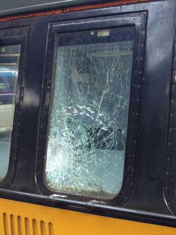 Darlington and Stockton Times: The window of the train