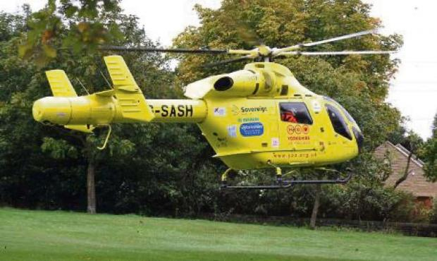Darlington and Stockton Times: A66 CRASH: Yorkshire Air Ambulance took the woman to James Cook Hospital