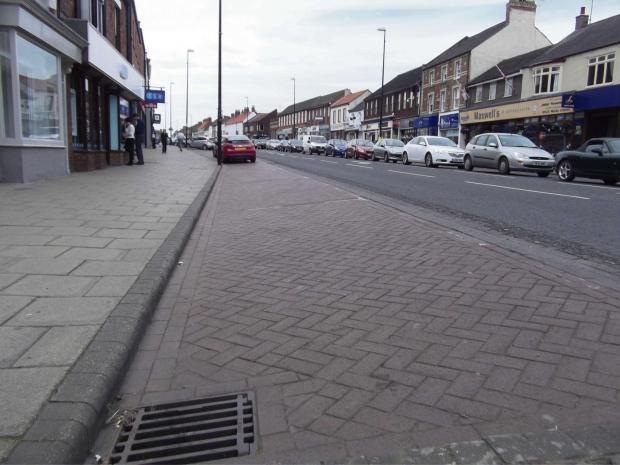 TRADE CONCERNS: Empty car parking spaces on Northallerton High Street, as cars queue