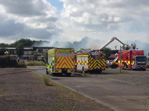 Darlington and Stockton Times: Fire crews at the scene Pic: Julia Breen