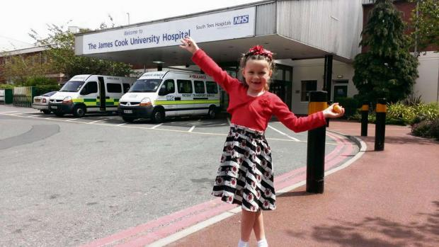 ONGOING CONCERNS: Fraja Simpson, outside James Cook University Hospital, after undergoing scans