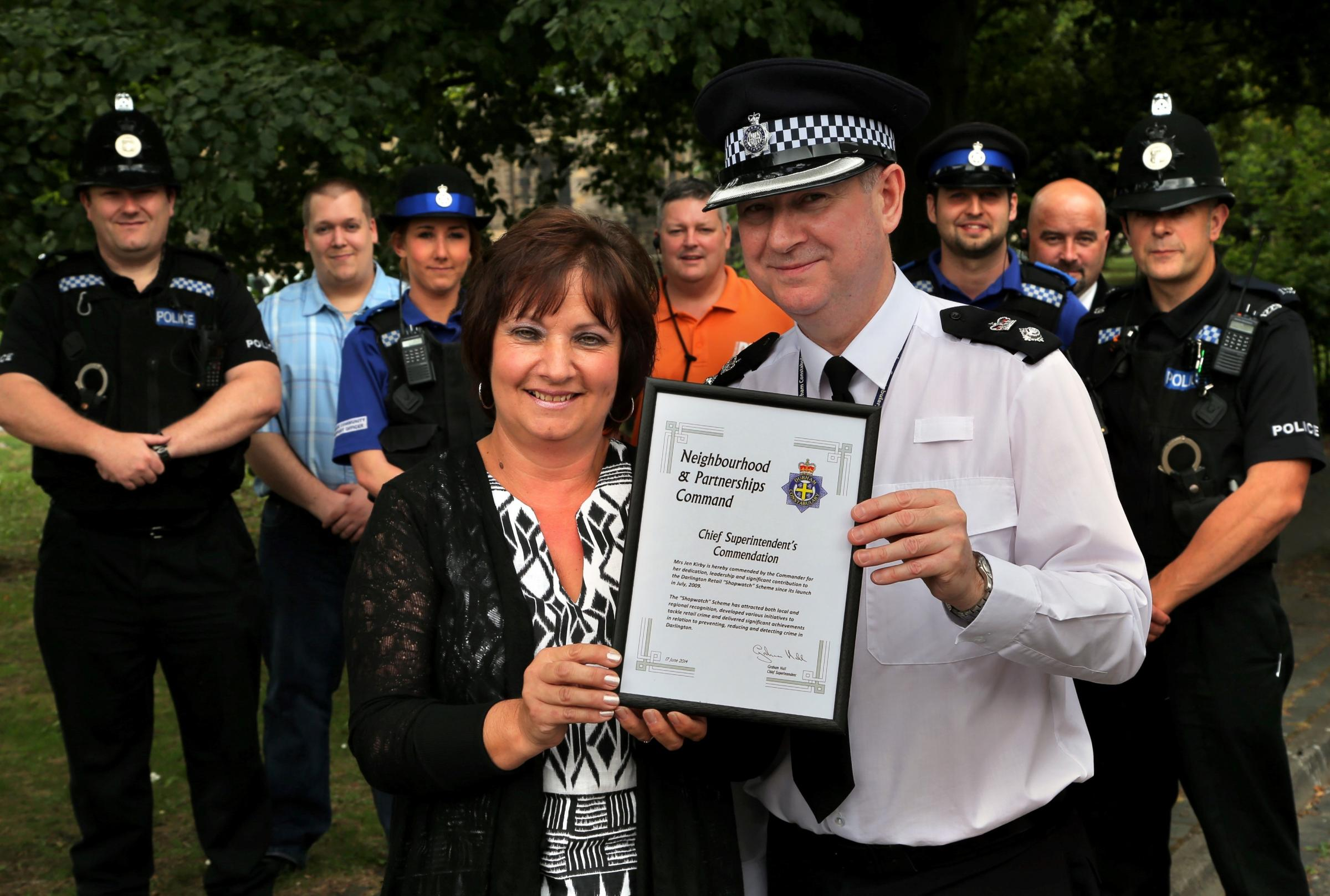 Crime-fighting businesswoman honoured by police