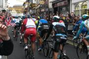 The Tour de France peloton passing along Goodramgate in York on Sunday. Picture: Beth Flanagan