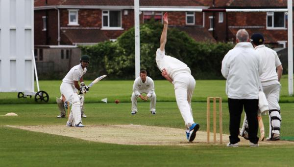 ACTION SHOT: Walid Ghauri batting for Middlesbrough against Great Ayton last weekend