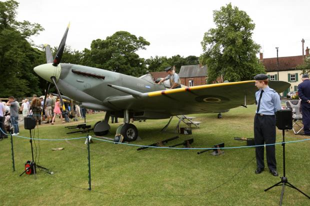 HISTORY REPEATED: A replica spitfire on show at last year's event