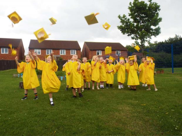 Darlington and Stockton Times: Thornaby pre-schoolers 'graduate' from nursery