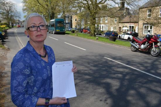 PARKING RESTRICTIONS: Diane Spark, who ran one of the petitions against introducing parking restrictions in Middleton-in-Teesdale.