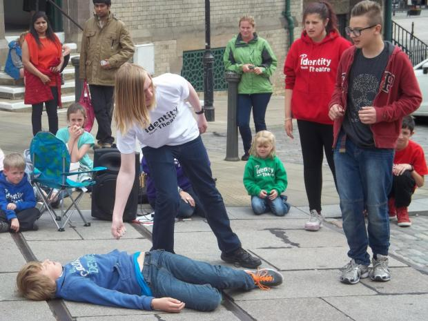 WORLD'S A STAGE: Members of Identity strut their stuff at Darlington People's Market