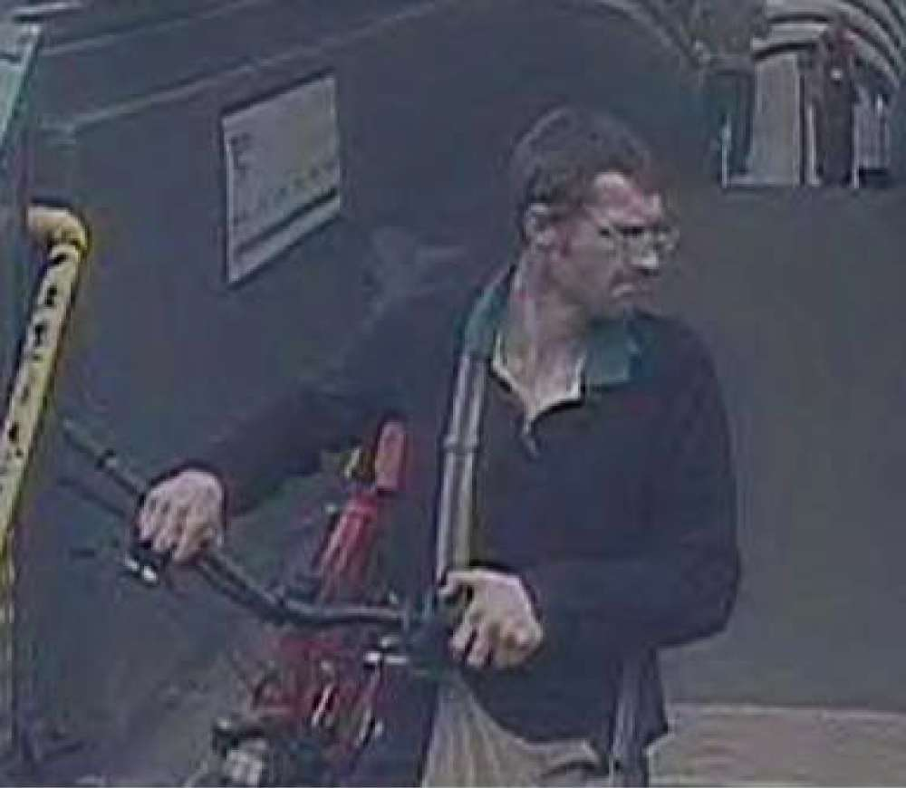 CYCLE THEFT: British Transport Police has released CCTV images of a man sought in connection with a stolen bike