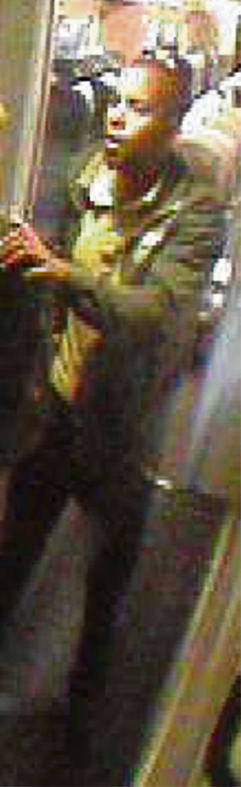 KNOW HIM? A CCTV still of a man wanted by British Transport Police in connection with threats made to a train guard