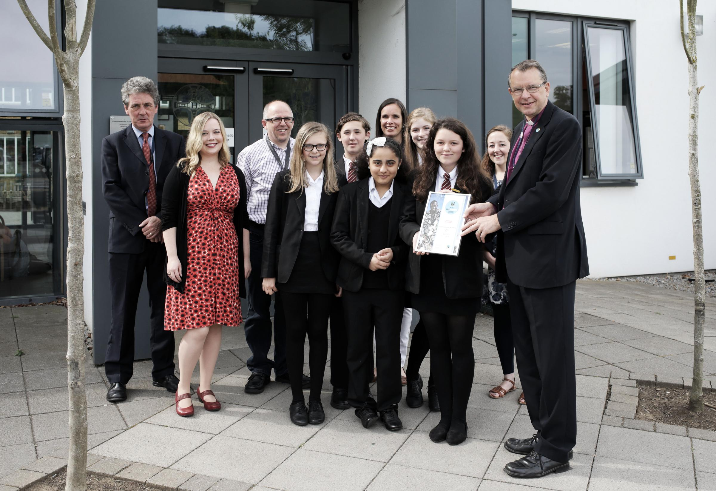 Darlington students' Fairtrade efforts rewarded