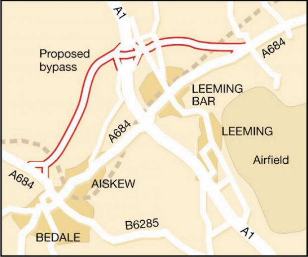 Darlington and Stockton Times: FINAL APPROVAL: The route of the Bedale A684 bypass
