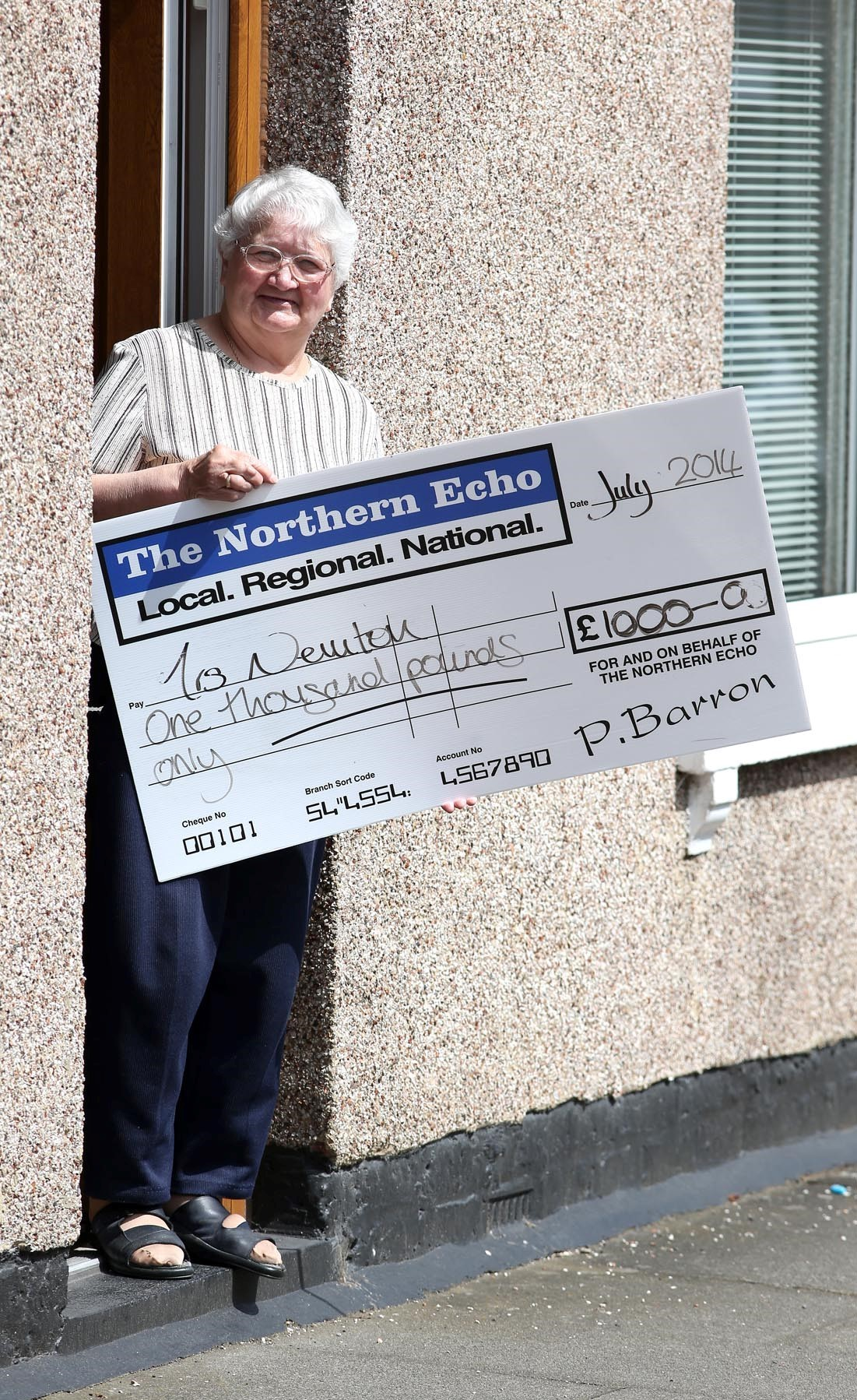 Church volunteer wins monthly cash giveaway