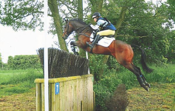 GIANT LEAP: Storm Straker competing in the cross-country event at the under-18 National Championships